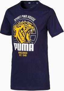 Koszulka dziecięca Puma z krótkim rękawem z bawełny dla chłopców