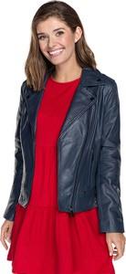 Granatowa kurtka Wittchen z bawełny krótka w stylu casual
