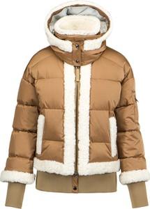 Brązowa kurtka Bogner w stylu casual z wełny