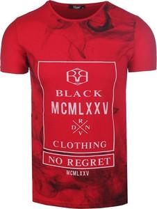 Czerwony t-shirt Neidio z nadrukiem