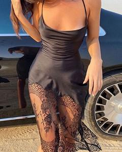 Czarna sukienka Kendallme mini na ramiączkach