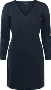 Niebieska sukienka Soyaconcept mini z dekoltem w kształcie litery v