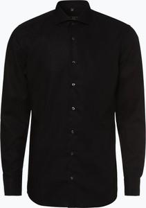 Czarna koszula Eterna z długim rękawem