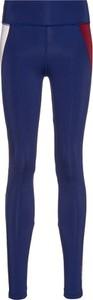 Niebieskie legginsy Tommy Hilfiger w sportowym stylu