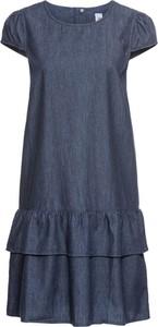 Niebieska sukienka bonprix John Baner JEANSWEAR midi