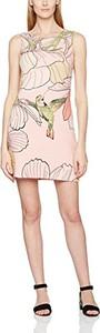 Różowa sukienka amazon.de prosta
