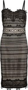 Brązowa sukienka bonprix BODYFLIRT boutique midi
