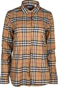 Brązowa koszula Burberry z długim rękawem