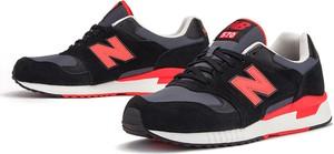 Czarne buty sportowe New Balance sznurowane ze skóry