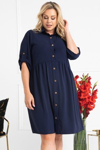 Sukienka KARKO z długim rękawem mini w stylu casual
