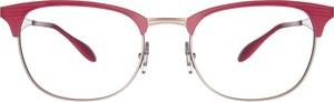 Czerwone okulary damskie Ray-Ban ze skóry w stylu casual