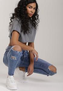 Niebieskie jeansy Renee z jeansu w stylu casual