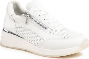 Buty sportowe Caprice sznurowane ze skóry