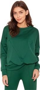 Bluzka Lanti w stylu casual z dresówki z okrągłym dekoltem