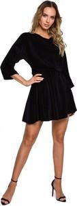 Sukienka MOE w stylu casual z okrągłym dekoltem mini