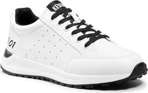 Buty sportowe KEDDO ze skóry ekologicznej z płaską podeszwą