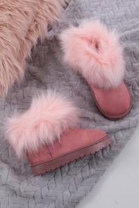 Buty dziecięce zimowe Casu z zamszu