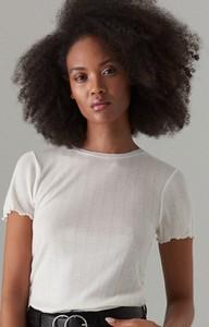 T-shirt Mohito w stylu casual z krótkim rękawem z wełny