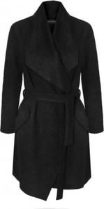 Czarny płaszcz Klaudyna Cerklewicz z wełny