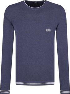 Niebieski sweter Boss Athleisure w stylu casual