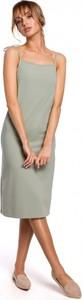 Sukienka MOE z bawełny na ramiączkach midi