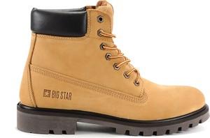 Buty zimowe Big Star sznurowane w militarnym stylu