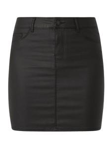 Czarna spódnica Vero Moda mini ze skóry ekologicznej