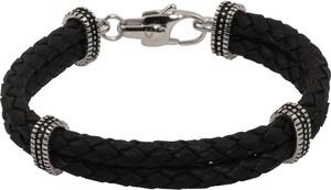 ROYAL-EGO Bransoletka 'Leather Bracelet black'