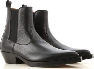 Czarne buty zimowe Givenchy ze skóry