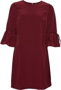 Czerwona sukienka bonprix BODYFLIRT w stylu casual z okrągłym dekoltem
