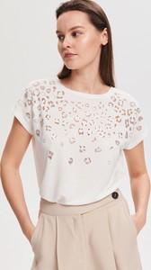 Bluzka Reserved w stylu casual z okrągłym dekoltem z krótkim rękawem