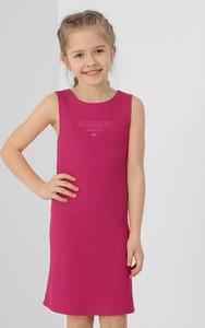 Różowa sukienka dziewczęca 4F