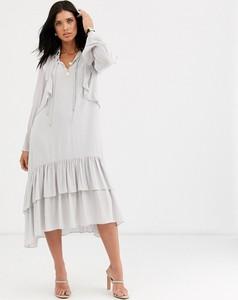 Sukienka Mango z długim rękawem midi