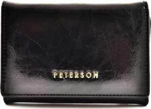 Czarny portfel Peterson ze skóry