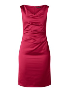 Sukienka Vera Mont bez rękawów mini z satyny