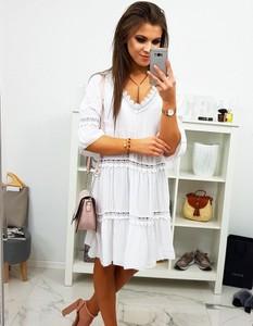 491be7d8e4 śliczna biała sukienka - stylowo i modnie z Allani