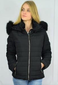 Czarna kurtka Versace w stylu casual krótka