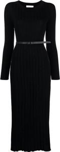 Czarna sukienka Fabiana Filippi z długim rękawem