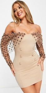 Sukienka Asos z tiulu hiszpanka mini