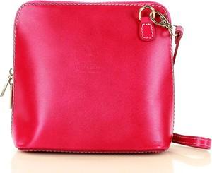 Różowa torebka Merg matowa średnia