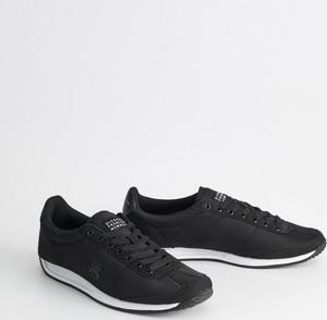 Czarne buty sportowe Diverse z zamszu sznurowane