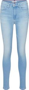 Niebieskie jeansy Tommy Hilfiger z tkaniny w street stylu
