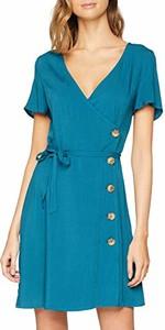 Sukienka amazon.de z dekoltem w kształcie litery v mini w stylu casual