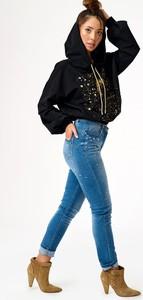 Niebieskie jeansy Gium z jeansu