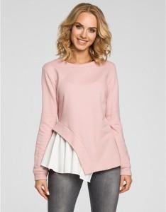 Różowa bluzka MOE z długim rękawem