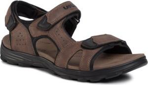 Brązowe buty letnie męskie Lanetti