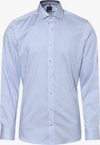 Niebieska koszula Olymp Level Five z długim rękawem w stylu casual