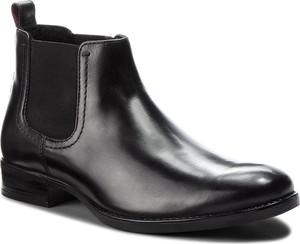 Czarne buty zimowe Lasocki For Men w stylu klasycznym ze skóry