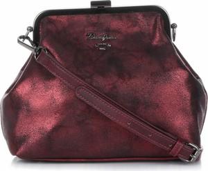 Czerwona torebka David Jones mała przez ramię