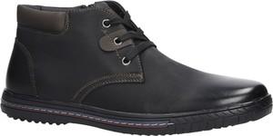 Brązowe buty zimowe Casu sznurowane